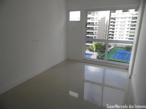 apartamento no recreio, 2 quartos, maui, com quadra de tênis