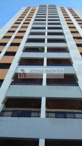 apartamento no residencial ícaro, 3 dorms (1 suíte), 2 vagas, no centro. - ap0744
