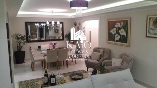 apartamento no solon de 137m² com 2 dormitórios 1 suite 2 vagas, vila rosália - ap1129