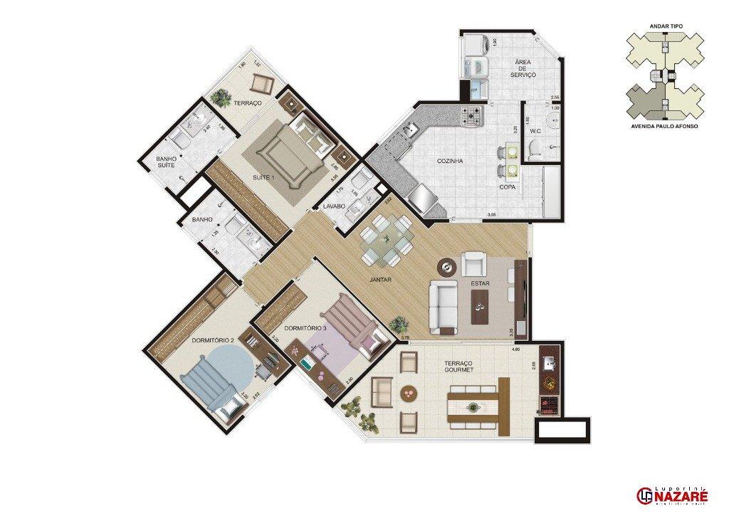 apartamento - nova petropolis - ref: 1365 - v-1365