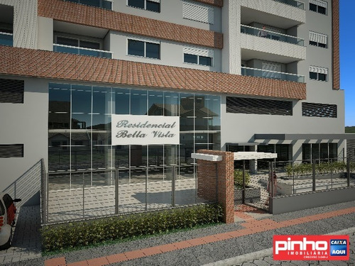 apartamento novo, 02 dormitórios, residencial bella vista, para venda, santo amaro da imperatriz, sc - ap00288