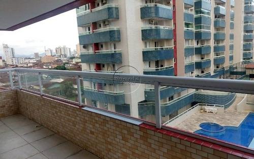 apartamento novo 1 suite mobiliado p/ venda na ocian em praia grande
