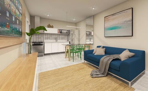 apartamento novo à 300 m da praia à venda em peruíbe.