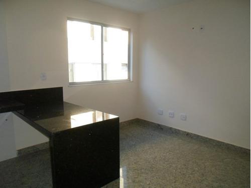 apartamento novo com 2 quartos e área privativa no bairro carmo. - 1551