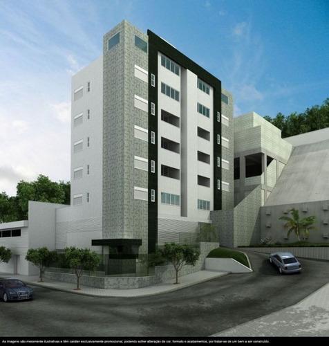 apartamento novo com 2 quartos no bairro sion. - 1222