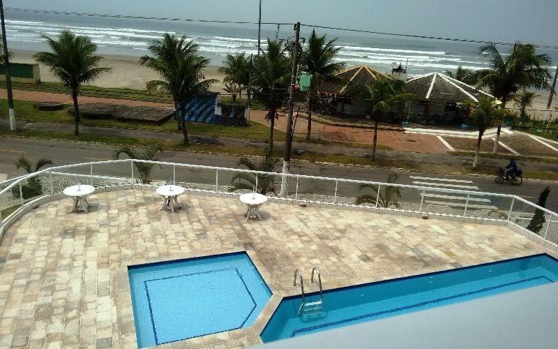 apartamento novo de frente ao mar em praia grande