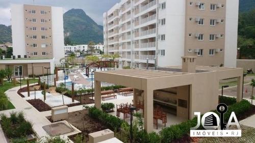 apartamento novo em jacarepaguá com 2 quartos e suite - 279
