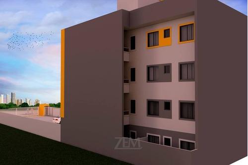 apartamento novo opção de garden e churrasqueira. - ap-205-1