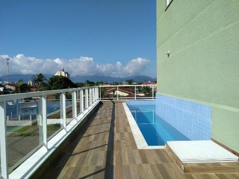 apartamento novo para venda ou locação definitiva no indaiá em caraguatatuba com vista e a 600m do mar - condomínio garden indaiá - ap00375 - 32208678