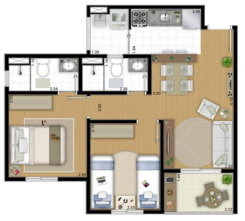 apartamento novo pronta entrega