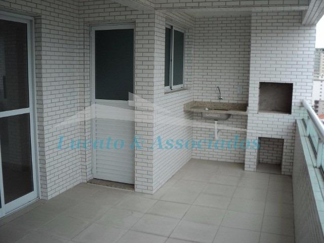 apartamento novo  pronto para morar para venda vila guilhermina, praia grande sp - ap00154 - 2506712