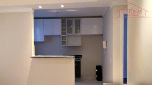 apartamento nunca habitado, 2 dorms, com lazer completo em guarulhos. - ap0816