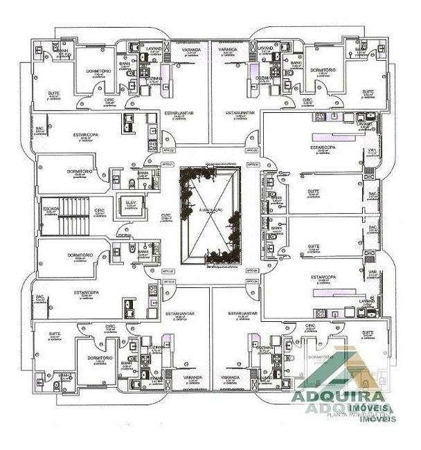 apartamento padrão com 1 quarto no edificio vernon - 2937-v