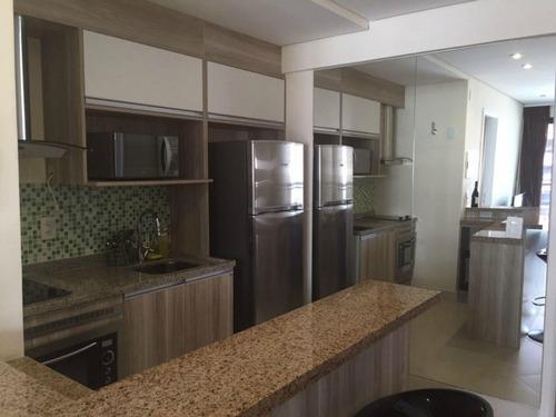apartamento para alugar, 1 quarto, mobiliado, landscape beira mar - ap0477