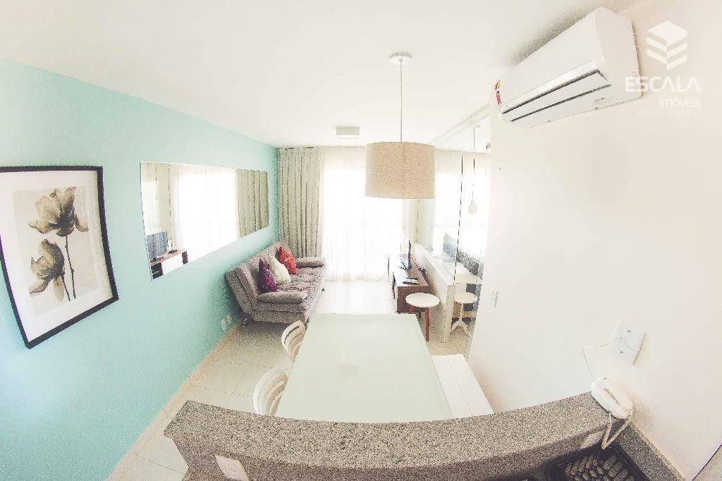 apartamento para alugar, 39 m² por r$ 250,00/dia - cumbuco - caucaia/ce - ap1083