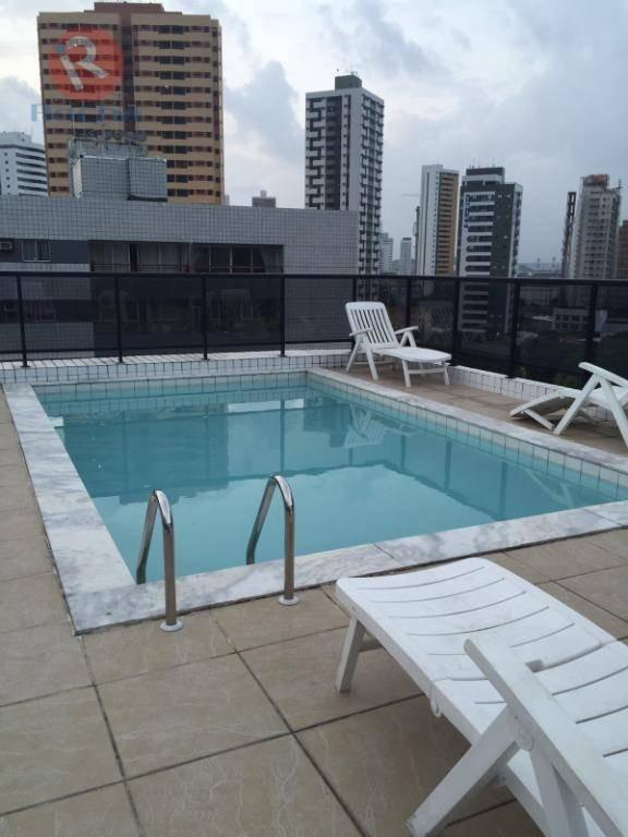 apartamento para alugar, 42 m² por r$ 1.500,00/mês - aflitos - recife/pe - ap10050