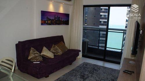 apartamento para alugar, 45 m² por r$ 3.500,00/mês - meireles - fortaleza/ce - ap1109