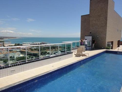 apartamento para alugar, 46 m² por r$ 1.726,50/mês - praia de iracema - fortaleza/ce - ap0396