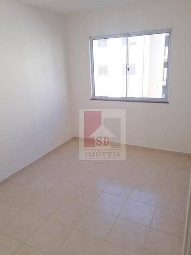 apartamento para alugar, 49 m² por r$ 700,00/mês - pimenteiras - teresópolis/rj - ap0797