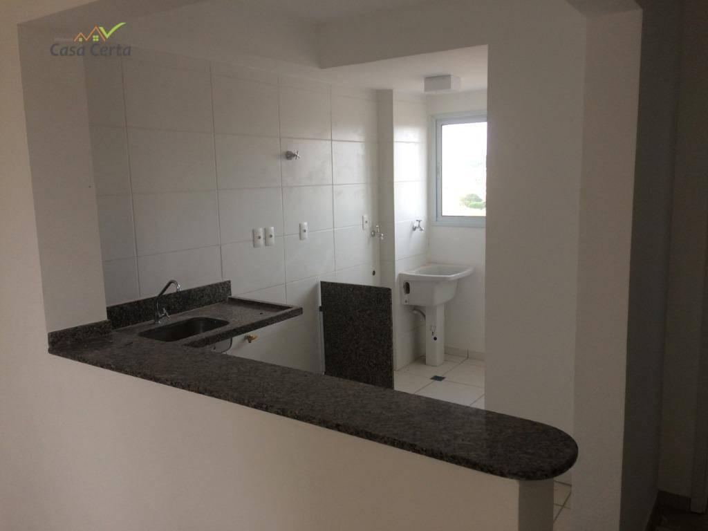 apartamento para alugar, 51 m² por r$ 800,00/mês - condomínio santa clara - mogi guaçu/sp - ap0125