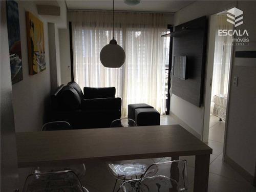 apartamento para locação, 1 quarto, meireles, beira mar, com internet / tv a cabo - ap0391