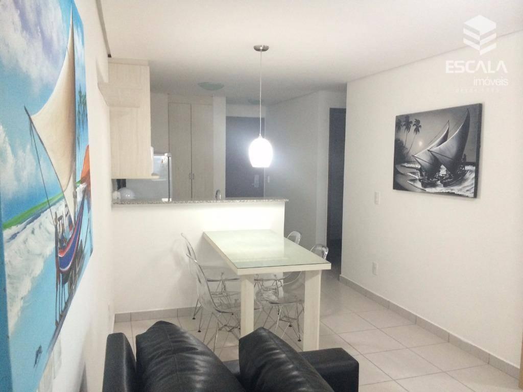 apartamento para locação. 2 quartos, meireles, beach class, com internet / tv a cabo - ap0995