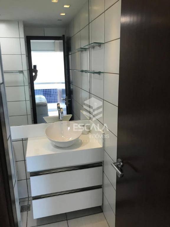 apartamento para locação, 2 quartos, mobiliado, vista mar - ap1120