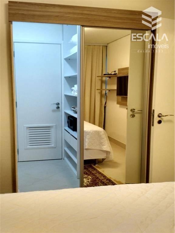 apartamento para locação, 2 quartos, mobiliado, vista mar, meireles, beira mar - ap0443