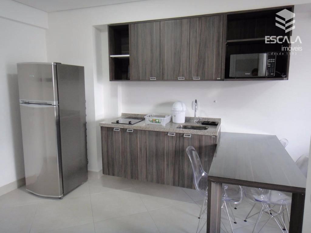 apartamento para locação, 2 quartos, mobiliado, vistar mar, com internet / tv a cabo - ap1107