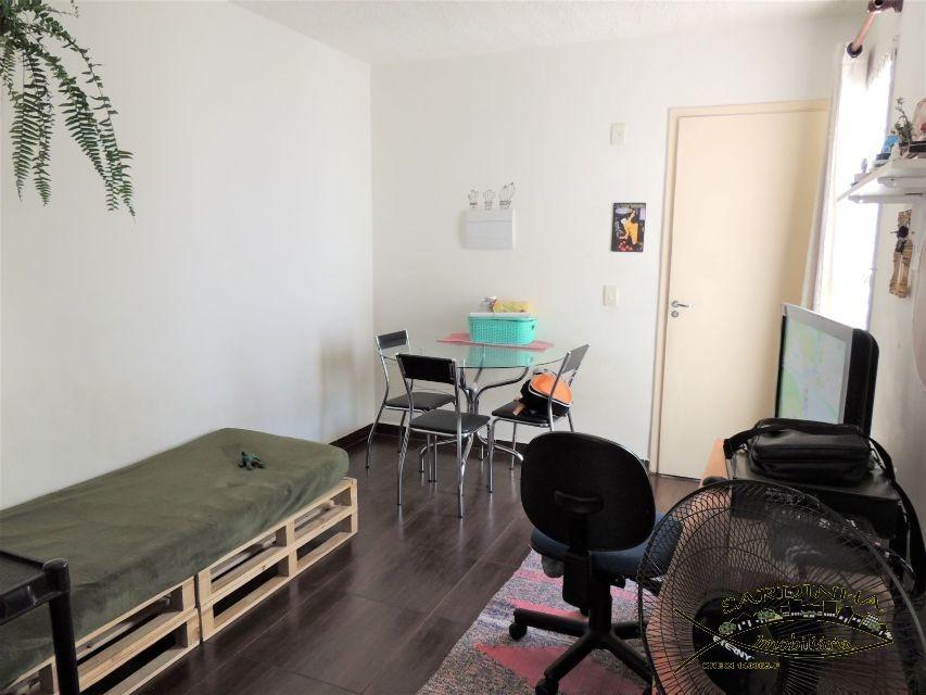 apartamento para locação - 50m² com 2 dormitórios, área de serviço e 1 vaga de garagem - vila indiana - taboão da serra -sp - ml1280