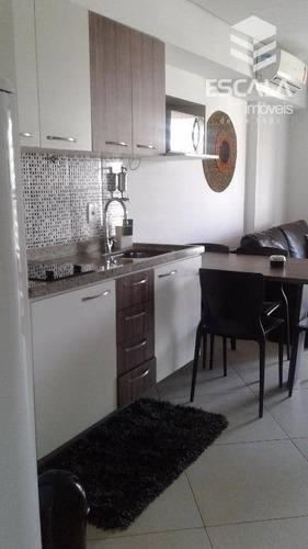 apartamento para locação anual e temporada, 2 quartos, mobiliado, com internet e tv a cabo, beira mar - ap1222