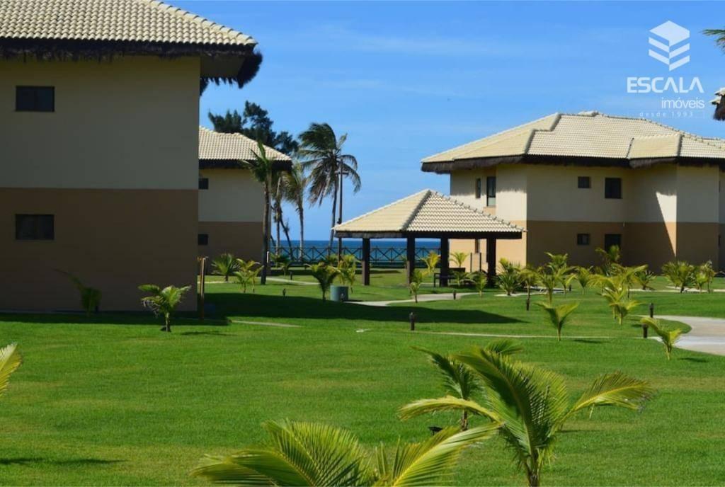 apartamento para locação no cumbuco, 1 suíte, 100% mobiliado, vista mar, lazer, com internet / tv a cabo - ap1082