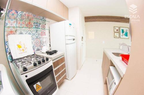 apartamento para locação no cumbuco, 1 suíte, 100% mobiliado, vista mar, lazer, com internet / tv a cabo - ap1085