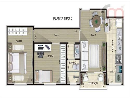 apartamento para ser entregue final do ano, otimo valor, com area de lazer completa. agende ja sua visita! - codigo: ap0177 - ap0177