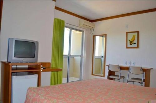 apartamento para temporada em caldas novas, 1 dormitório, 1 suíte, 1 banheiro, 1 vaga - 8386