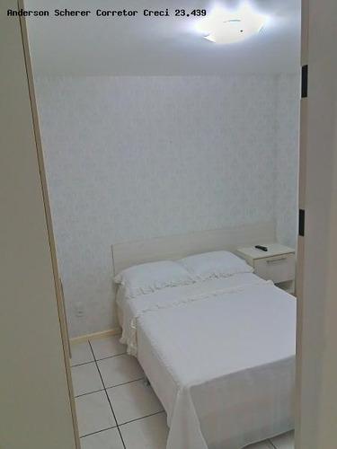 apartamento para temporada em itapema, meia praia, 2 dormitórios, 1 suíte, 2 banheiros, 1 vaga - vs103