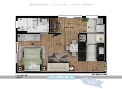 apartamento para venda, 1 dormitórios, nova gerty - são caetano do sul - 2636