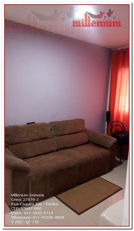 apartamento para venda, 2 dormitórios, engenheiro goulart - são paulo - 742