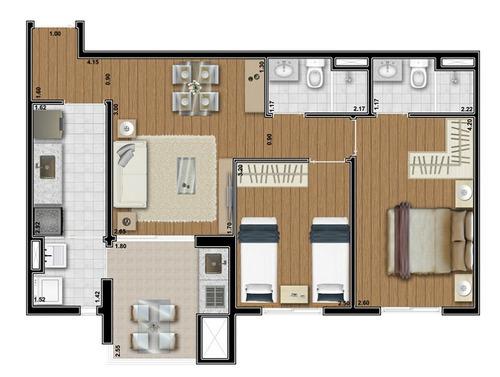 apartamento para venda, 2 dormitórios, ipiranga - são paulo - 2832