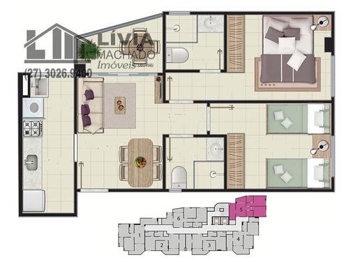 apartamento para venda, 2 dormitórios, maruípe - vitória - 1442