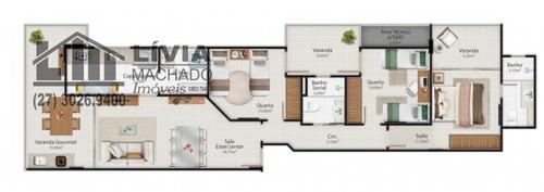 apartamento para venda, 3 dormitórios, praia do morro - guarapari - 1907