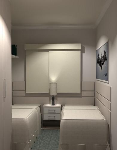 apartamento para venda, 3 dormitórios, residencial village santana - guaratinguetá - 1525
