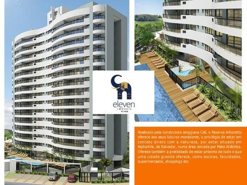 apartamento para venda alphaville i, salvador r$ 650.000,00 (cond. r$700,00 + iptu 190,00) com: 3 dormitórios sendo 1 suíte, 2 salas, 1 banheiro, 2 vagas e 105,00 m² útil. - tbf254 - 4400501