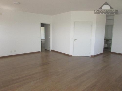 apartamento para venda e locação, condominio lessence em sorocaba-sp, 3 vagas de garagem, 3 suítes área útil 196,00 m². - ap0329