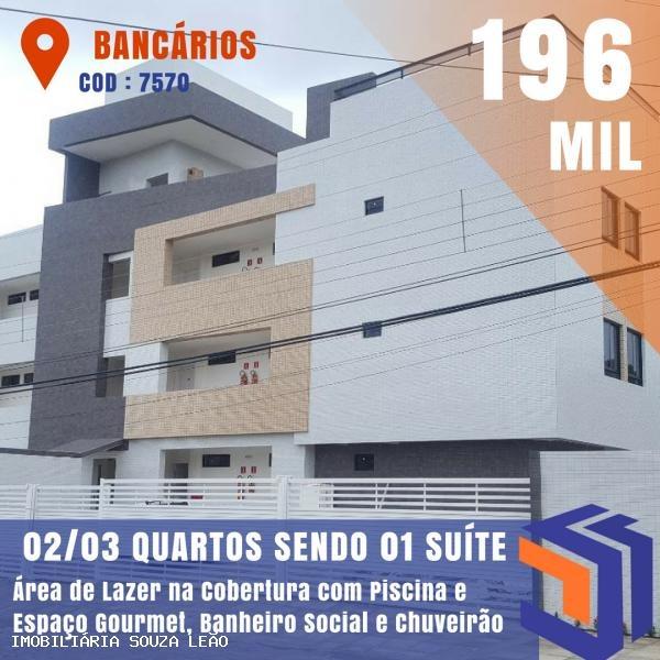 apartamento para venda em joão pessoa, bancarios - 7570