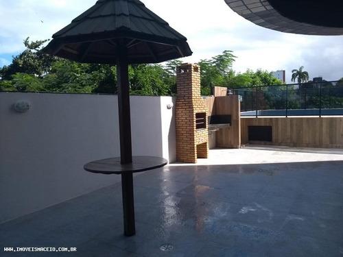 apartamento para venda em maceió, farol, 3 dormitórios, 2 suítes, 3 banheiros - 0211927