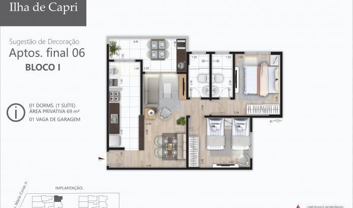apartamento para venda em mongaguá, jardim praia grande, 3 dormitórios, 1 suíte, 1 banheiro, 2 vagas - mg019_2-936402