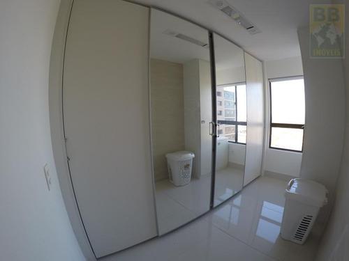 apartamento para venda em natal, candelária, 2 dormitórios, 1 suíte, 4 banheiros, 2 vagas - porto arena cob
