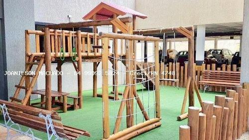 apartamento para venda em natal, candelária - corais alto da candelária, 3 dormitórios, 1 suíte, 3 banheiros, 2 vagas - ap1028