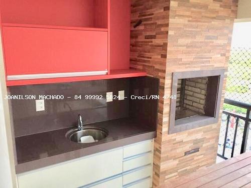 apartamento para venda em natal, capim macio - solar alta vista, 3 dormitórios, 3 suítes, 5 banheiros, 4 vagas - ap1015-solar alta vista